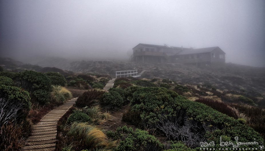 As beautiful as a hut can appear, after a long walk.  (Luxmore Hut, Kepler Track, New Zealand)