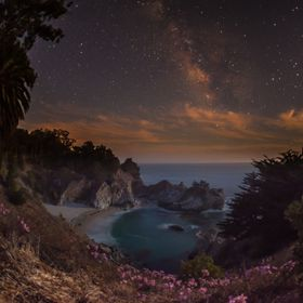 Milky way above McWay Falls