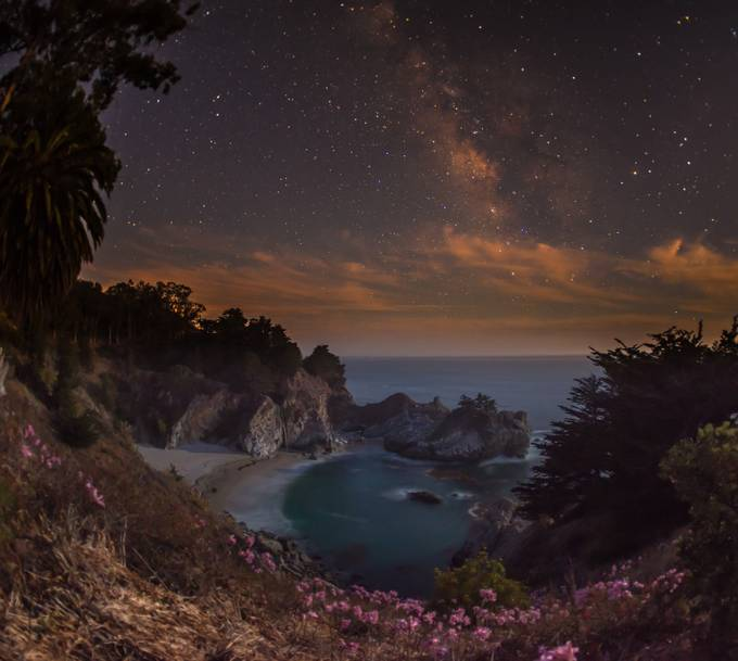 McWay Falls at dusk by michaelkovler - Our World At Night Photo Contest