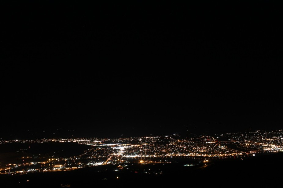 A view of two cities and two states. The Clearwater River is at the bottom of the frame. The Snak...