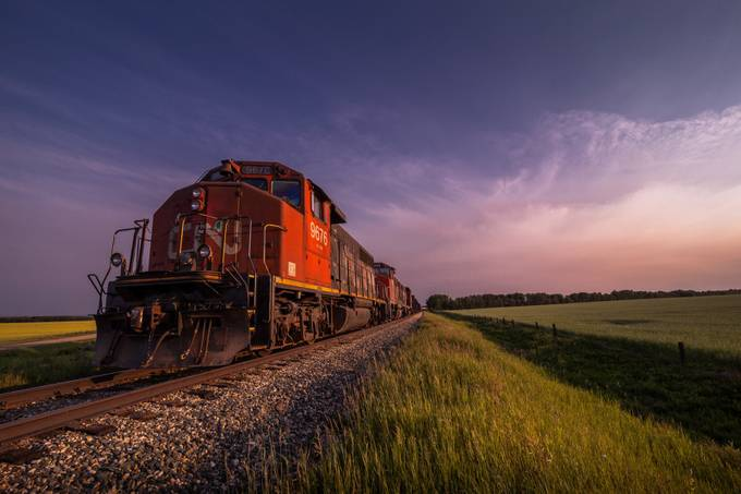 CN Train by PaulLavoieImages - Metallic Matter Photo Contest
