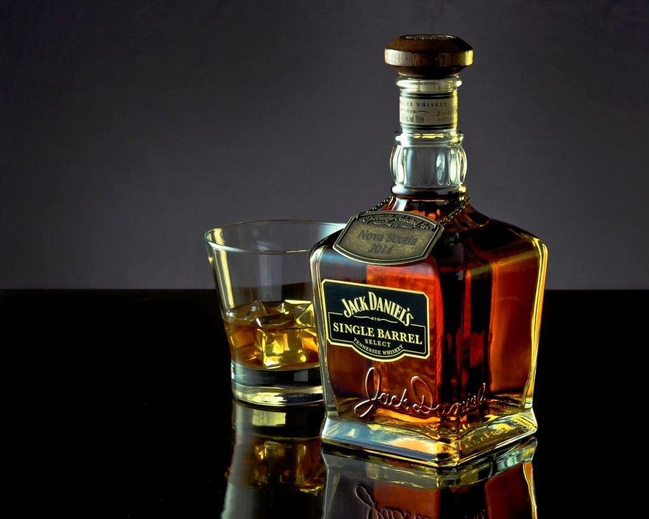 My first venture into product shooting of a rather nice, aged to perfection, Jack Daniel\'s