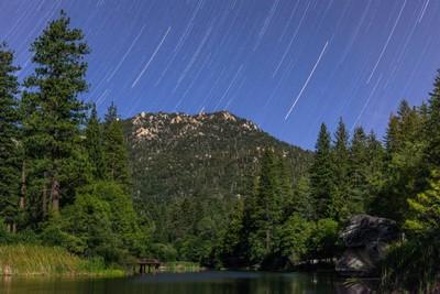Star Trails At Lake Fulmor