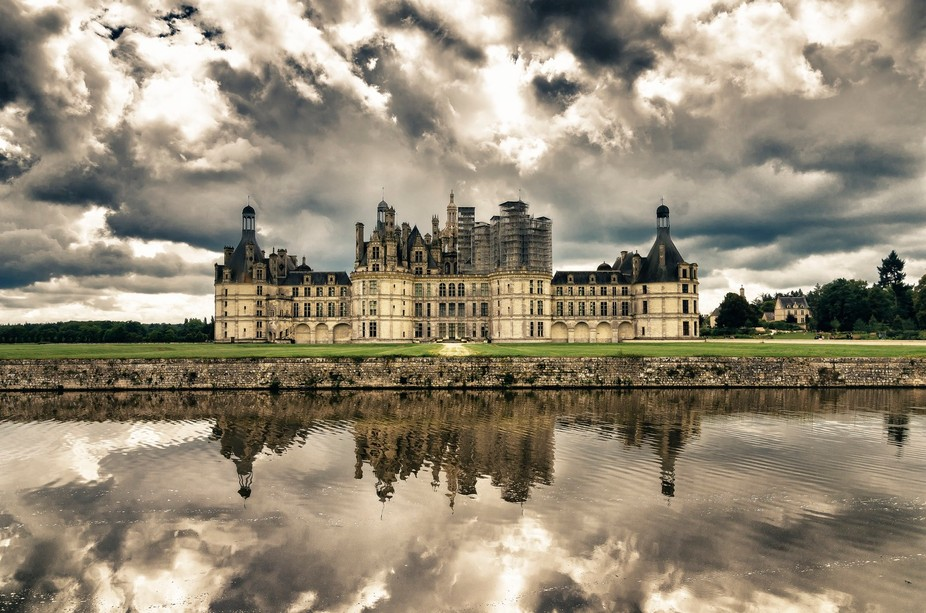 The Chambord castle in France.