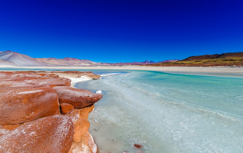 salt flat located in the high puna of northern Chilean Andes