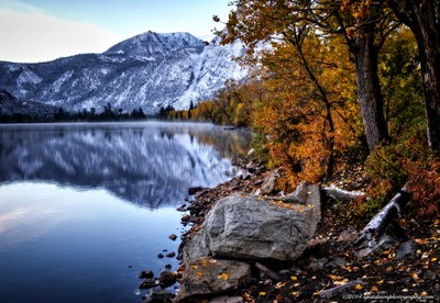 Fall Color and Snow, Silver Lake