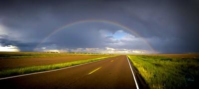 rainbow over my hometown