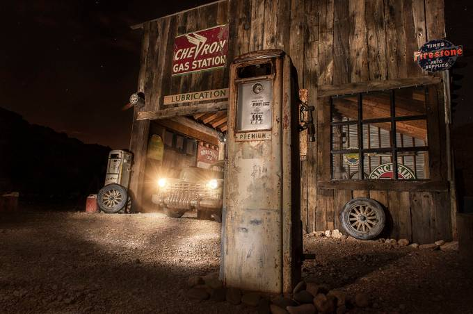 Garage Station Light Painting by mmunksgard - Monthly Pro Vol 17 Photo Contest