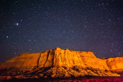 Starry starry night in Monument Valley