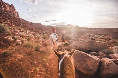 Horseback Riding through Monument Valley