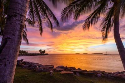 Ominous purple sunset in Borneo part 1