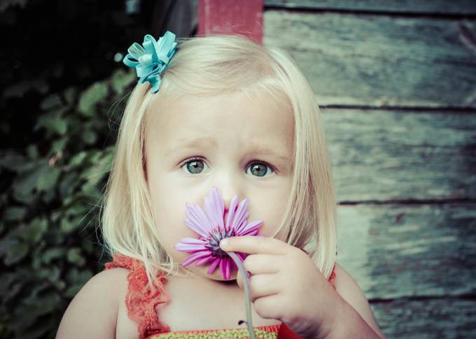 Eyes of a Flower Girl by betsyarmour - Baby Face Photo Contest