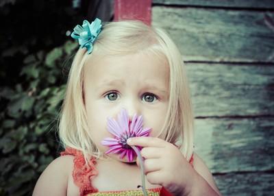 Eyes of a Flower Girl