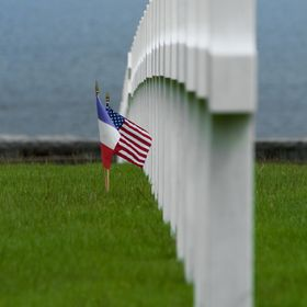 Heroes of Normandie. American Cemetery, Omaha Beach. Normandie - France