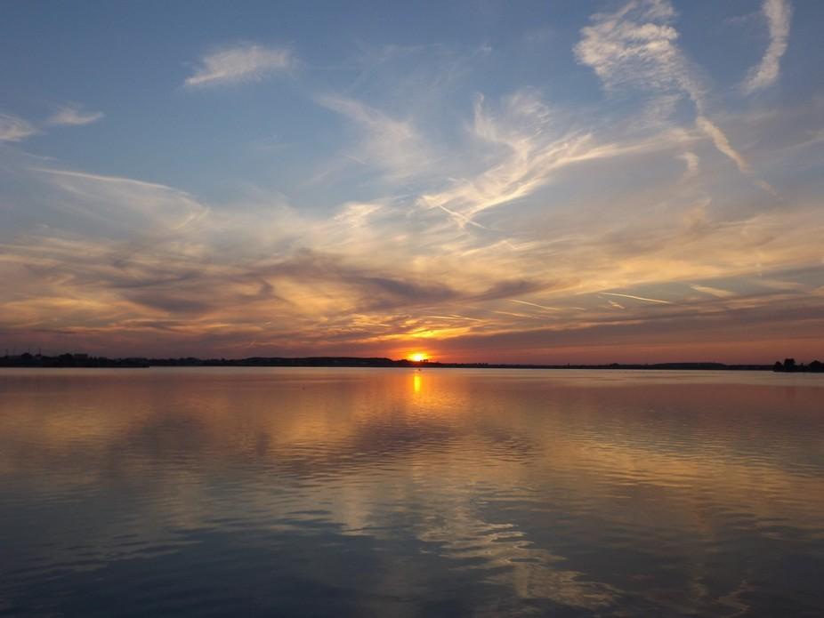 Sunset on Mill Lake, Bucharest Romania