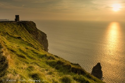 Sunset on Cliffs of Moher