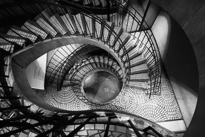 The Stairwell by warrenstowell - Shapes and Lines Photo Contest
