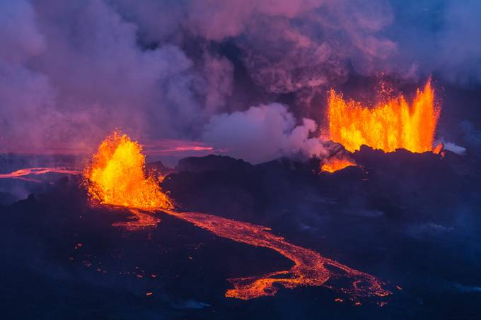 Eruption in Holuhraun Iceland 2 by palmivilhjalmsson - Celebrating Earth Day Photo Contest 2019