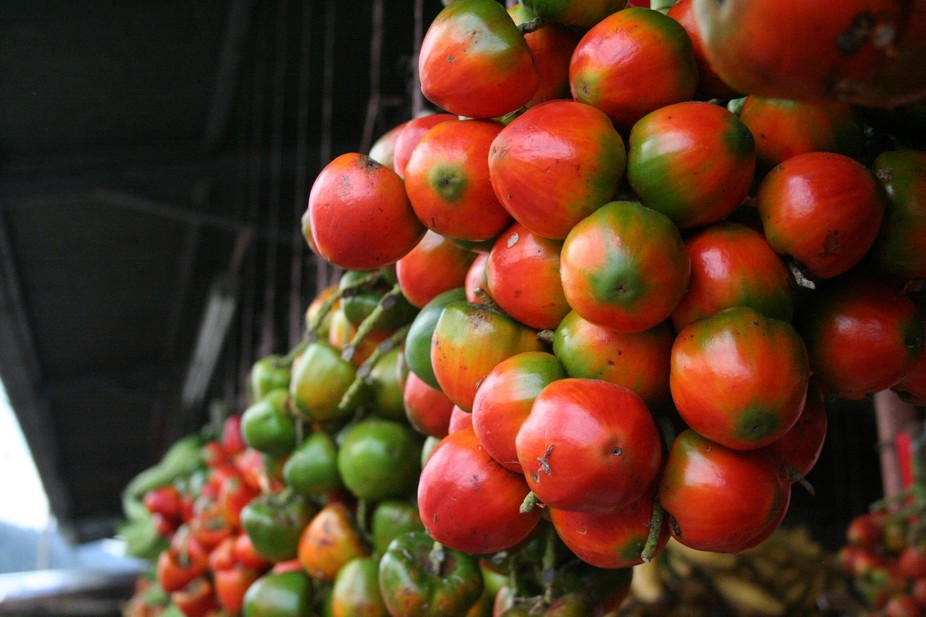 Fresh Produce in a market on the east coast of Costa Rica