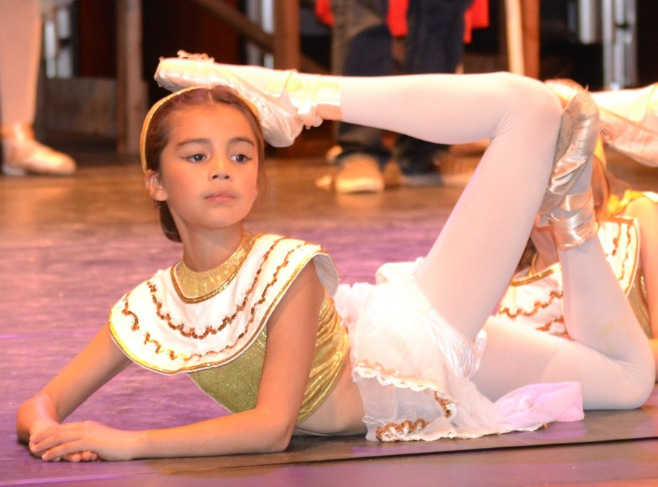 My young niece at rehearsal for a dance recital