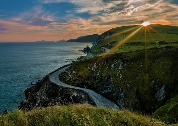 Slea Head by NoelSalisid - Composing with Curves Photo Contest