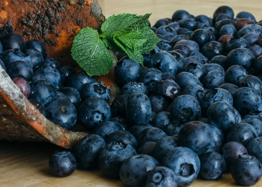 a still life of Blueberries  fresh fruits
