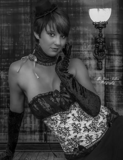 Victorian Burlesque B&W