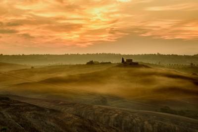 Sunrise on hills