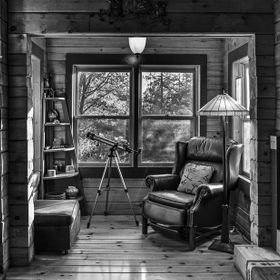 We all have favorite places where we feel comfort and solitude. This is my wife's place of solitude at a log cabin we stay at in the San Jacinto ...