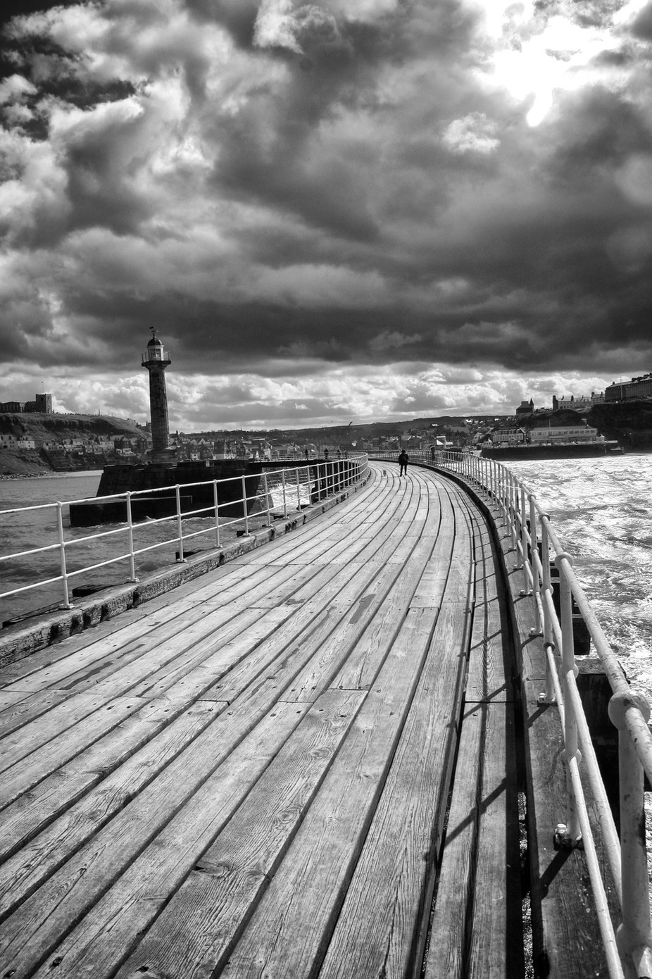 pier and storm by alanclimb - Promenades And Boardwalks Photo Contest