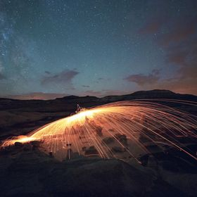 Milky Way and sparks