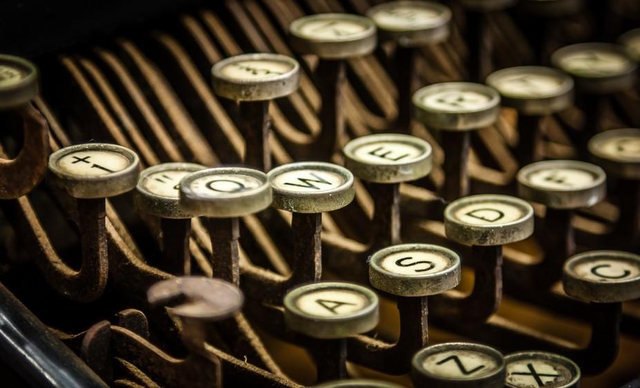 Keys on an old #6 Remington typewriter.