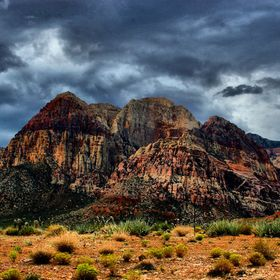 Storm clouds over Red Rock Canyon National Conservation Area