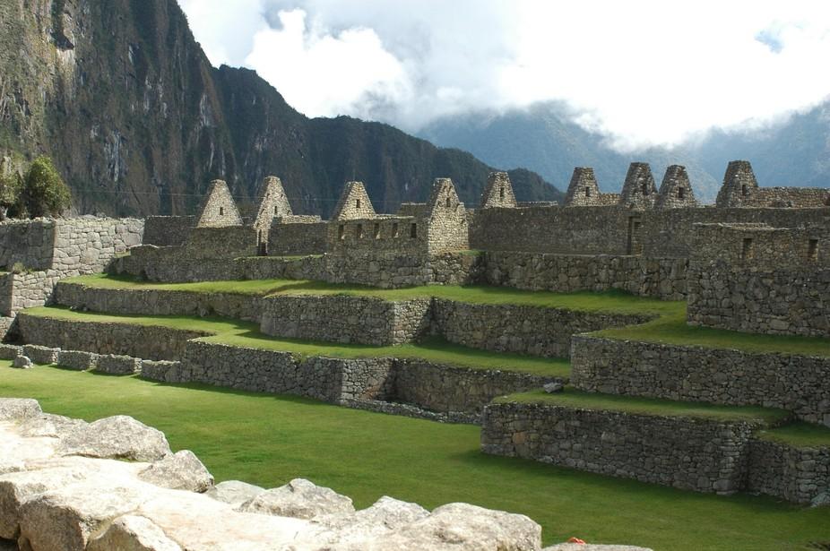 green Terraces at Machu Picchu