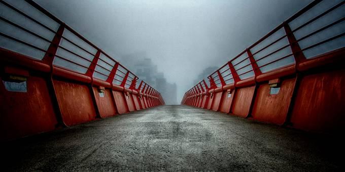 Misty Bridge by AlexanderArntsen - Rails and Fences Photo Contest