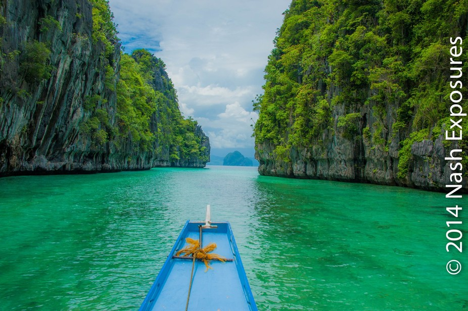 El Nido Palawan, Philippines. Great Limestone cliffs, dreamy crystal clear water, a divers paradi...