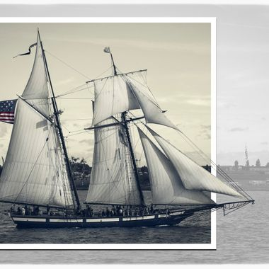 One of the many tall ships that participated in the 1814 Star spangled spectacular in Baltimore
