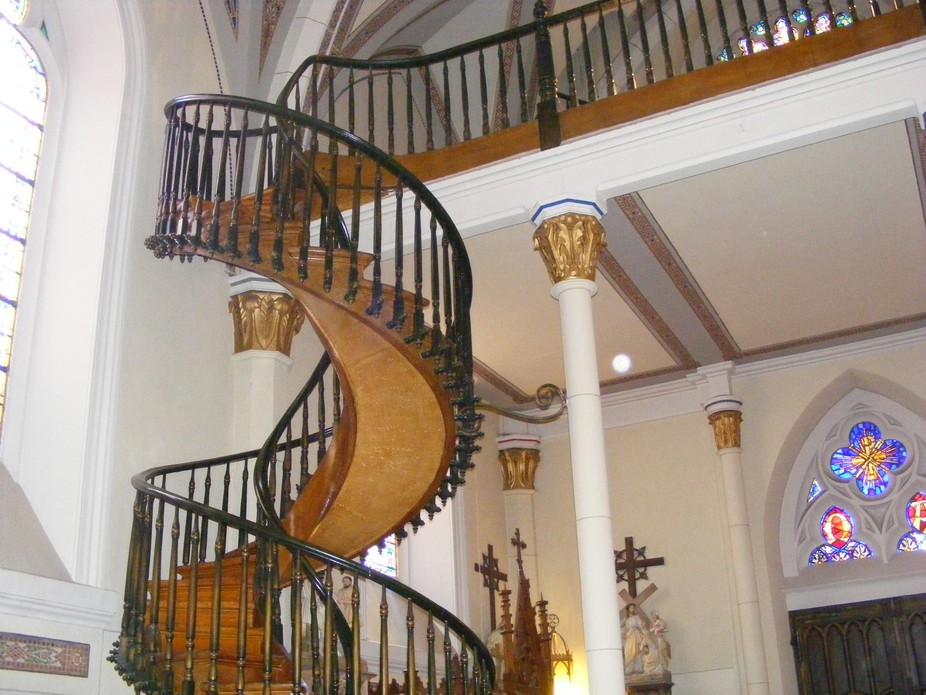 I TOOK THIS PICTURE IN A CHURCH IN SANTA FE NEW MEXICO. I CALL THIS STAIR WAY TO HEVEN