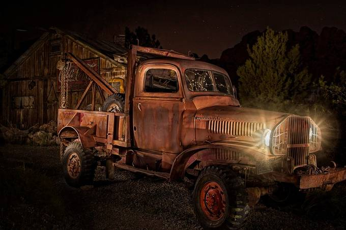 Old Truck Light Painting by mmunksgard - Experimental Light Photo Contest