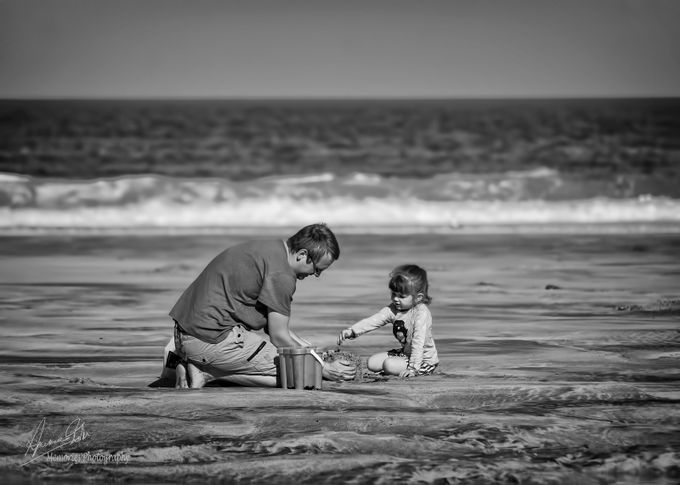 Sand Castles by aimeejohn - We Love Our Dads Photo Contest