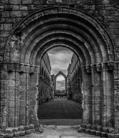 B&W Through the Archway