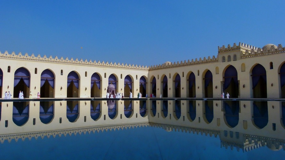 Shot this inside the mosque from the centre courtyard which is open to the sky. Tere is a tank of...