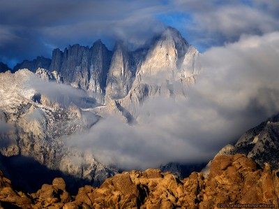 Cloudy Mt Whitney