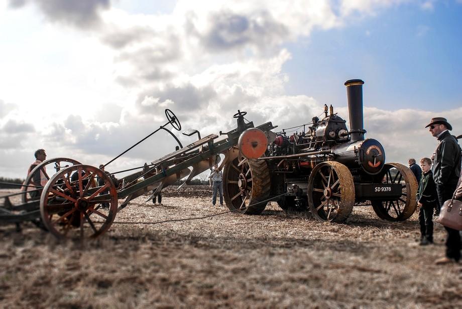 A steam plough at Little Casterton working weekend in Rutland.