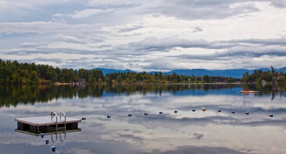 Early morning on Mirror Lake, Lake Placid, NY