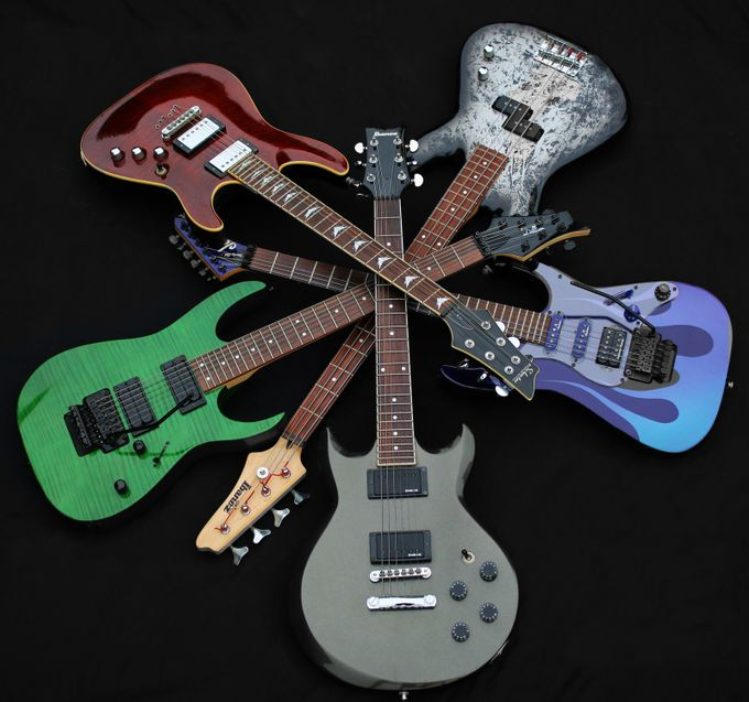 Pile-of-Guitars by jconfer - Commercial Style Photo Contest