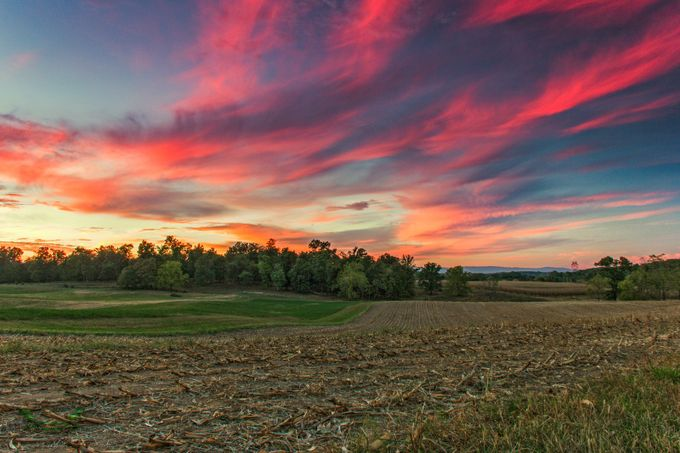 Harvest Sunset by ChrisCraigPhotography - Dry Fields Photo Contest