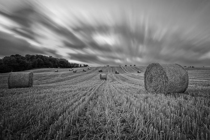Hay Bales Long 0001 by iamrtl - Awesomeness In Black And White Photo Contest
