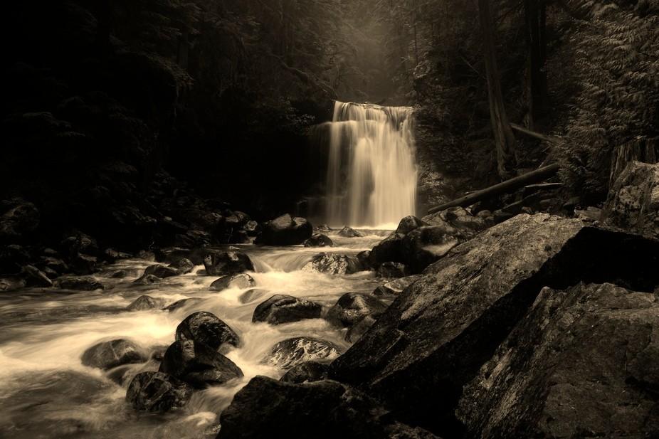 Gardner Falls, BC (B&W)