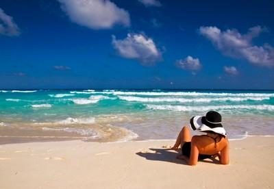 Enjoying the sun and surf